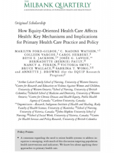 Mapping a pathway from equity-oriented health care to better health outcomes