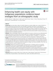 Enhancing health care equity with Indigenous populations
